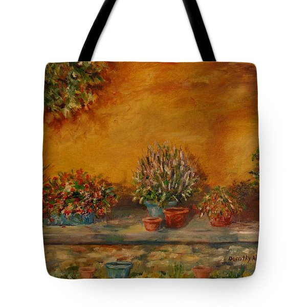 Sunny Sideyard Tote Bag
