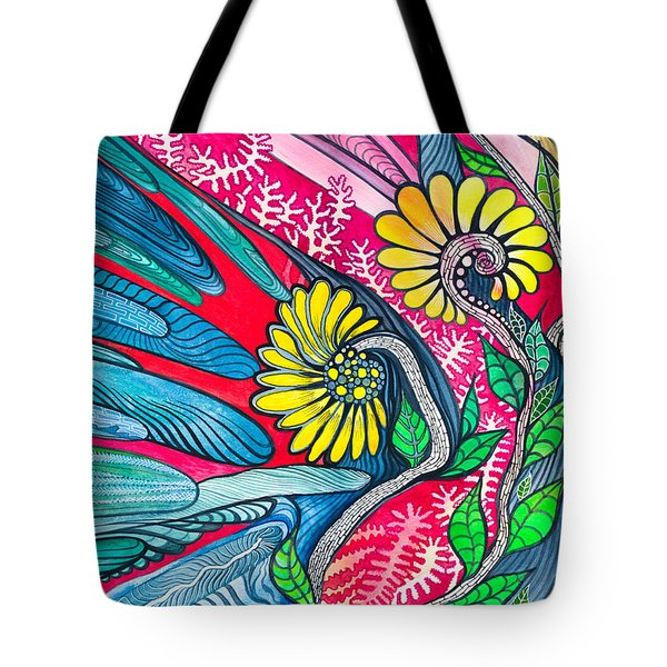 Sunny Spring Tote Bag by Adria Trail