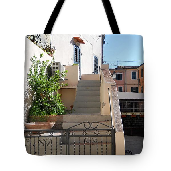 Tote Bag featuring the photograph Sunny Tuscany Village by Ramona Matei