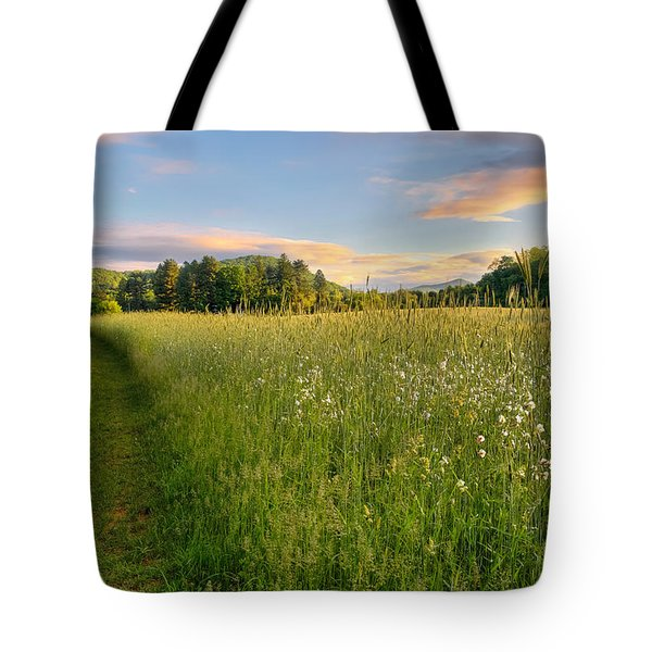 Sunny Valley Sunrise Tote Bag