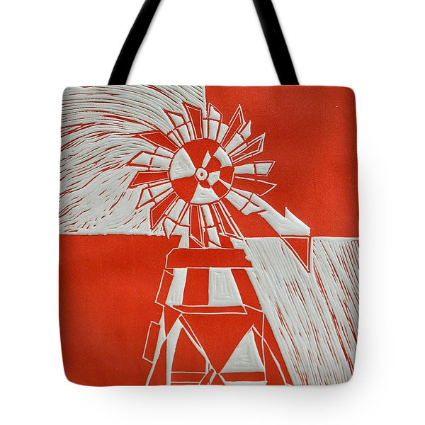 Sunny Windmill Tote Bag