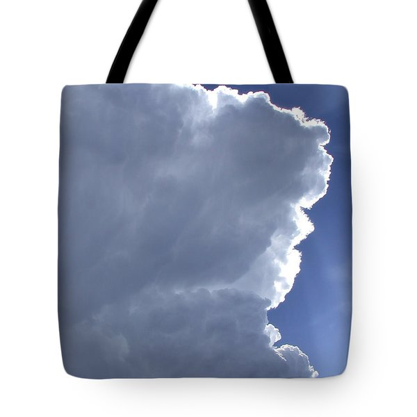Sunrays Above Tote Bag