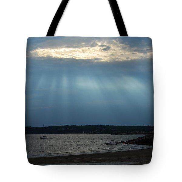 Sunrays Over Niles Beach Tote Bag