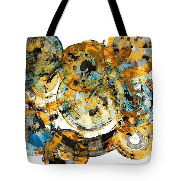 Tote Bag featuring the painting Sunrise - 991.042212 by Kris Haas