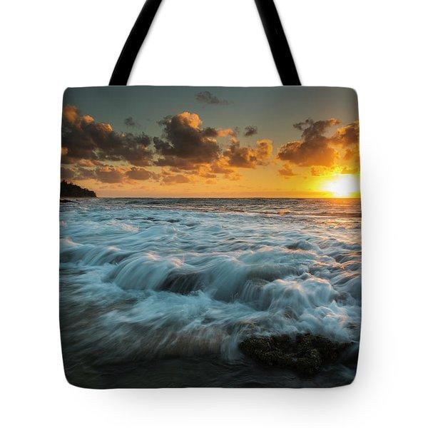 Sunrise And Surf On The East Coast Tote Bag