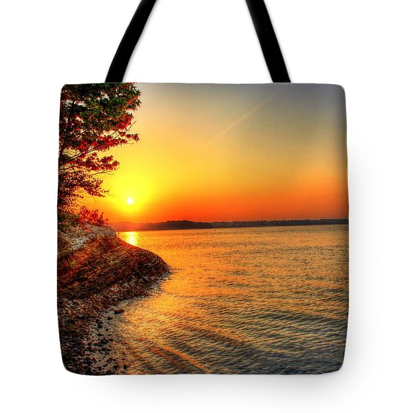 Sunrise Around The Bend Tote Bag