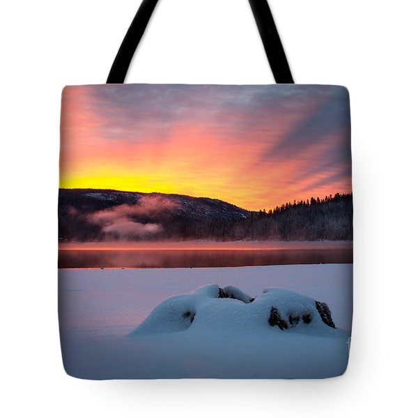 Sunrise At Bass Lake Tote Bag