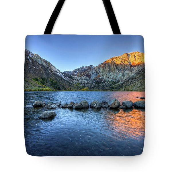 Sunrise At Convict Lake Tote Bag
