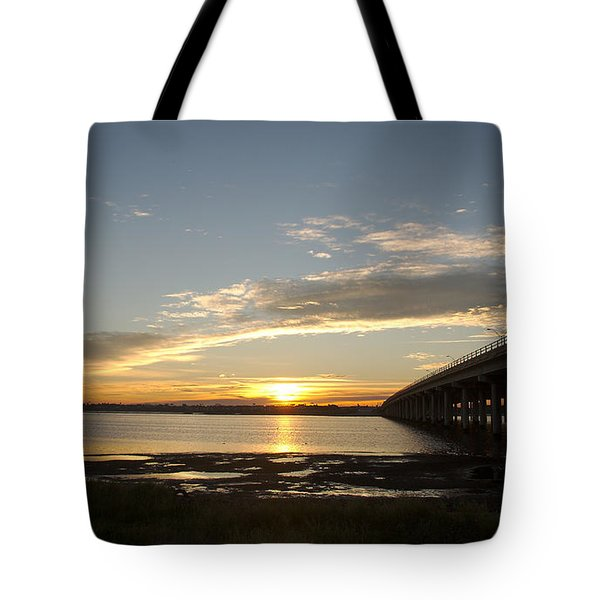 Sunrise At Corpus Christi Tote Bag