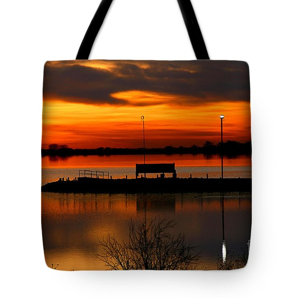 Sunrise At Jackson Tote Bag by Steven Reed