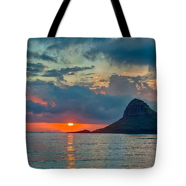 Sunrise At Kualoa Park Tote Bag
