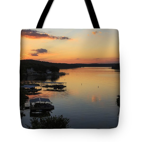 Sunrise At Lake Of The Ozarks Tote Bag