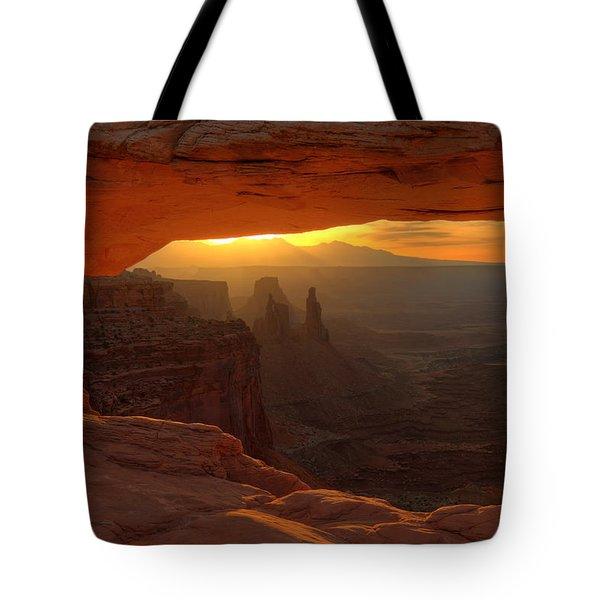 Sunrise At Mesa Arch 2 Tote Bag