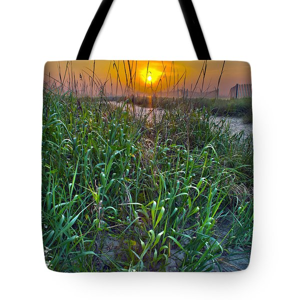 Tote Bag featuring the photograph Sunrise At Myrtle Beach by Alex Grichenko