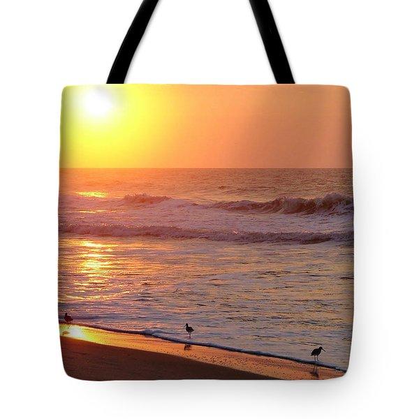 Sunrise At Ocean Isle Tote Bag by Kelly Nowak