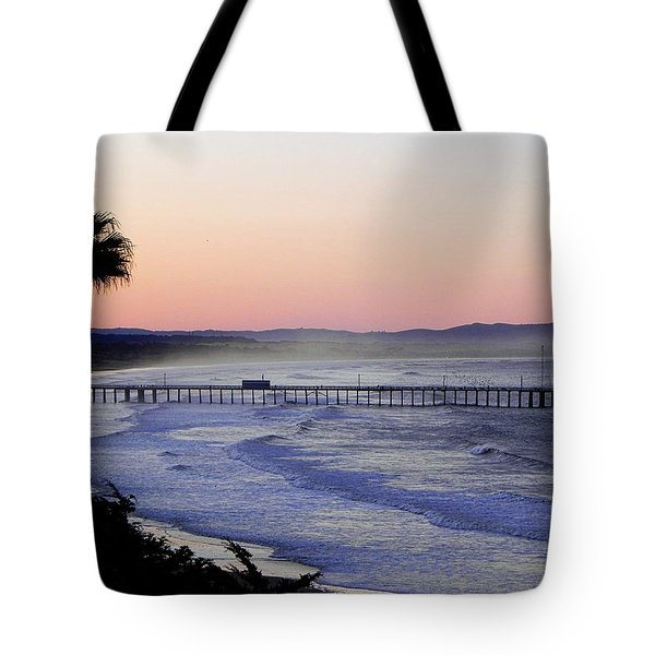 Sunrise At Pismo Beach Tote Bag by Kathy Churchman