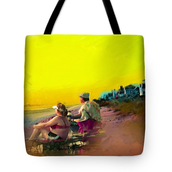 Sunrise At Ponte Vedras Tote Bag by Ted Azriel