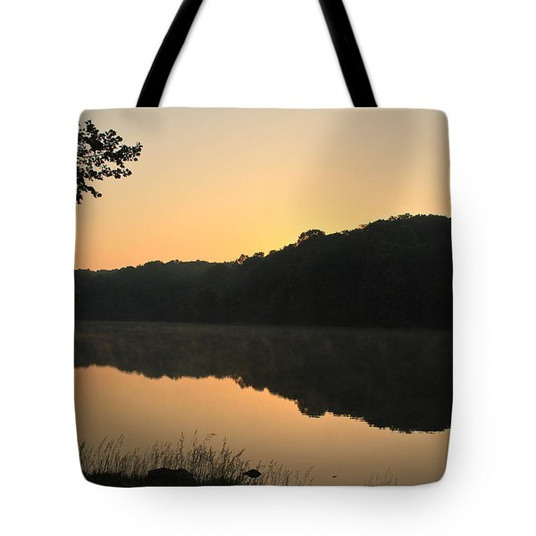 Sunrise At Rose Lake Tote Bag