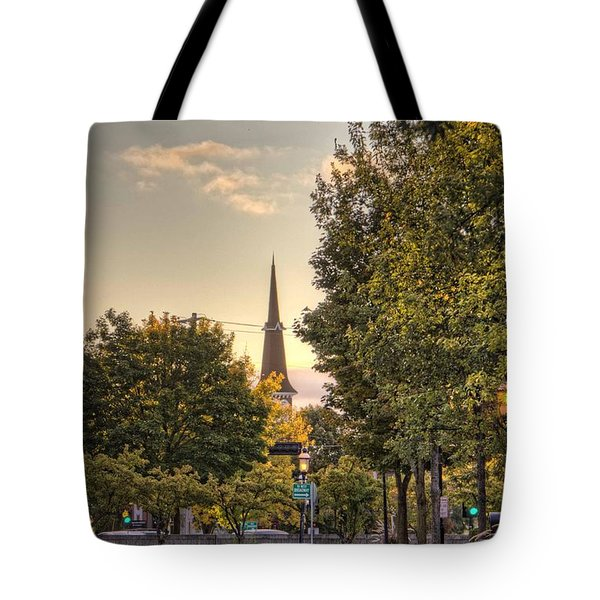 Sunrise At The End Of The Street Tote Bag by Daniel Sheldon