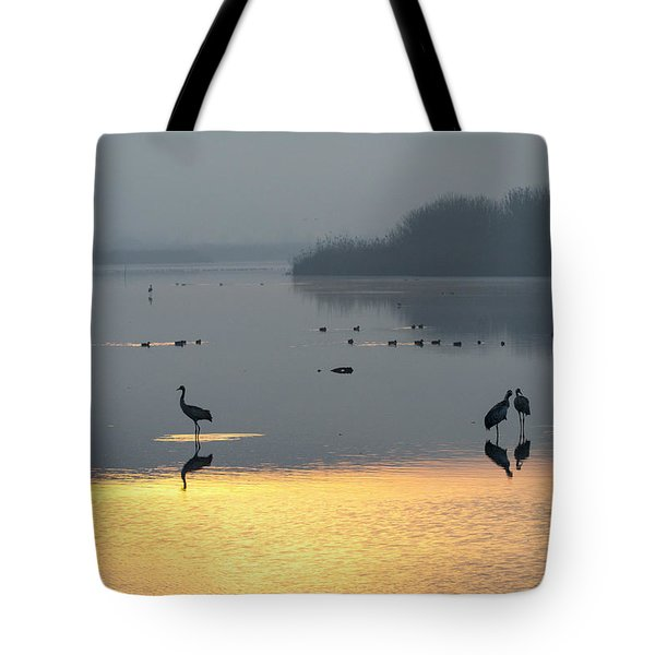 Sunrise Over The Hula Valley Israel 1 Tote Bag