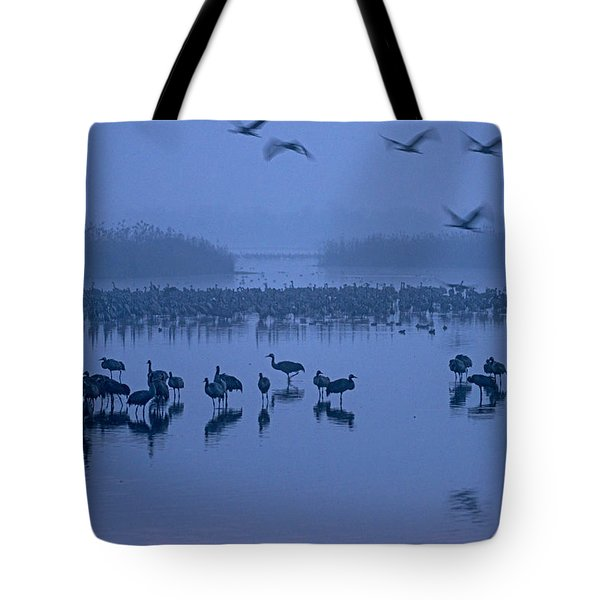 Sunrise Over The Hula Valley Israel 4 Tote Bag