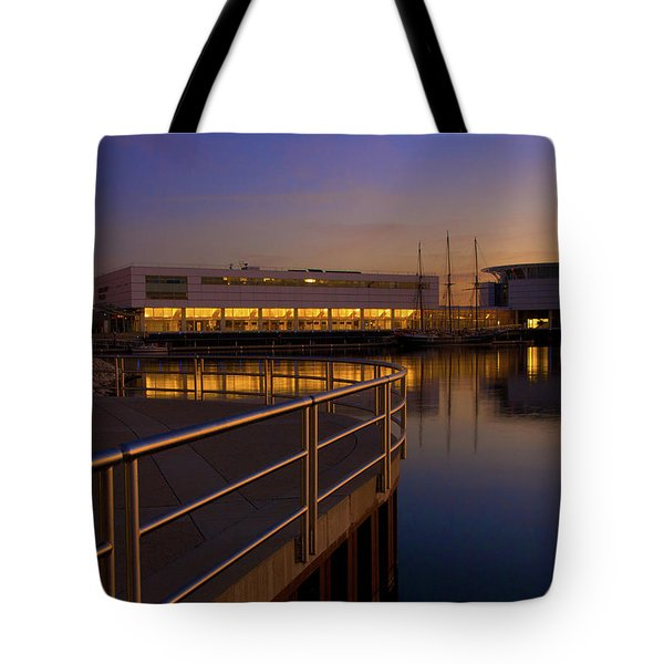 Sunrise At The Lakefront Tote Bag by Jonah  Anderson