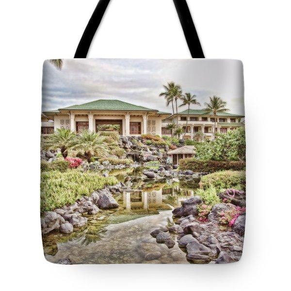 Sunrise At The Resort Tote Bag by Scott Pellegrin