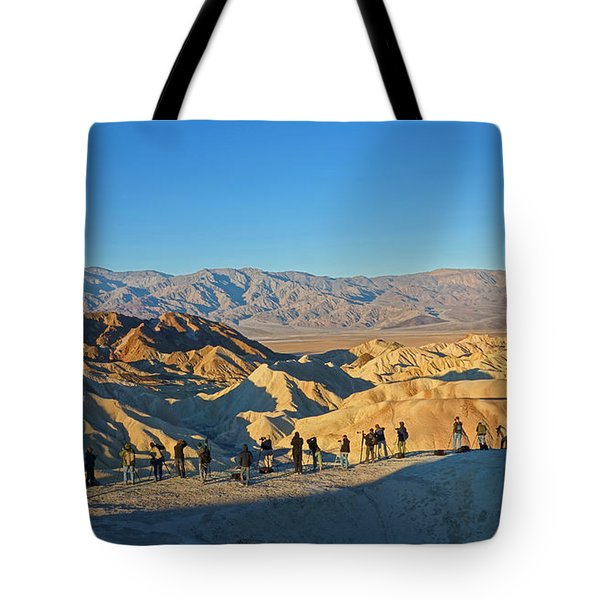 Tote Bag featuring the photograph Sunrise At Zabriskie Point - Death Valley by Dana Sohr