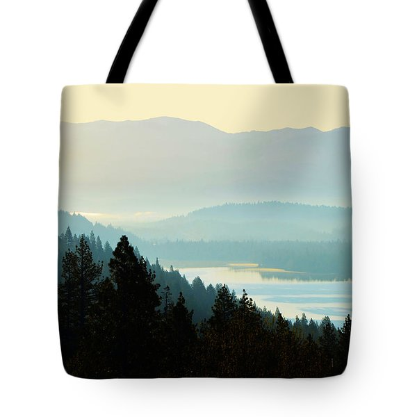Sunrise Donner Lake California Tote Bag