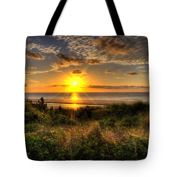 Sunrise Dune Tote Bag by Greg and Chrystal Mimbs