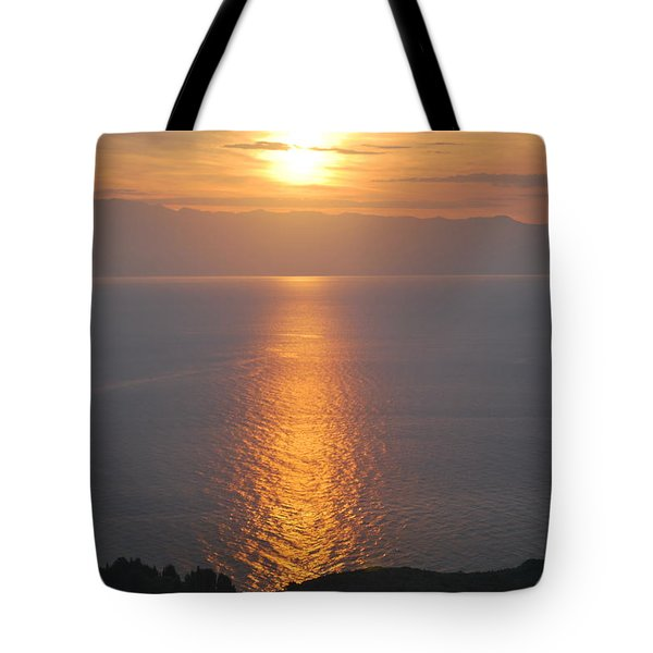 Tote Bag featuring the photograph Sunrise Erikousa 1 by George Katechis