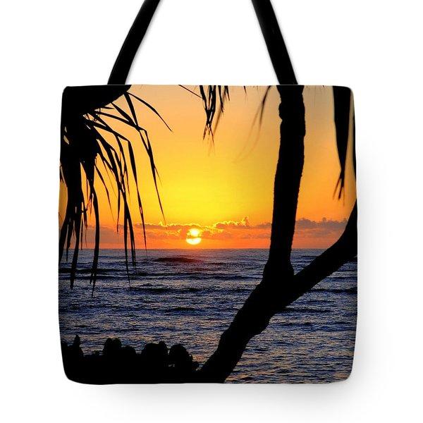 Sunrise Fuji Beach Kauai Tote Bag