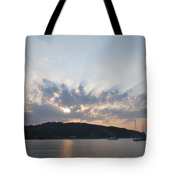 Tote Bag featuring the photograph Sunrise by George Katechis