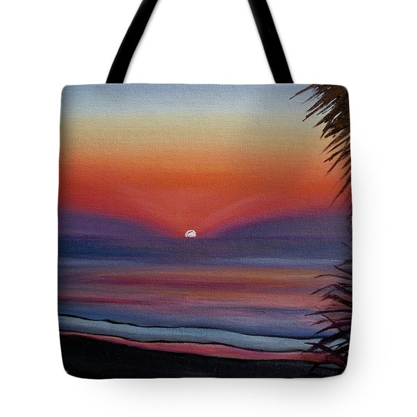 Tote Bag featuring the painting Sunrise Glow by Donna Tuten