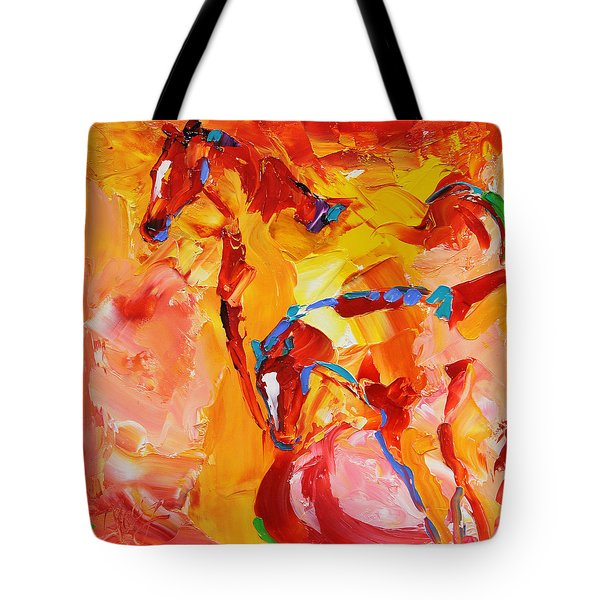 Sunrise Graze Horse 25 2014 Tote Bag
