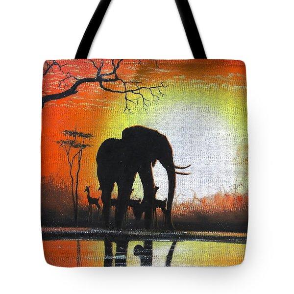 Sunrise In Africa Tote Bag