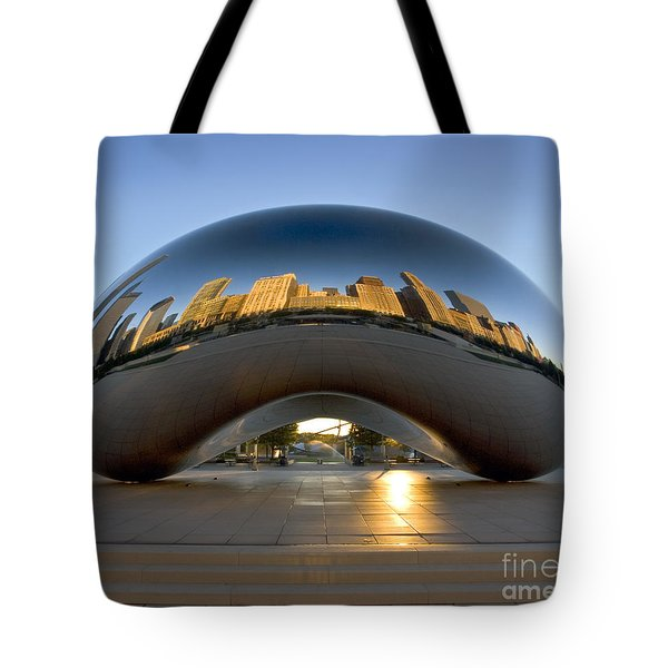 Sunrise In Cloudgate Tote Bag by Martin Konopacki