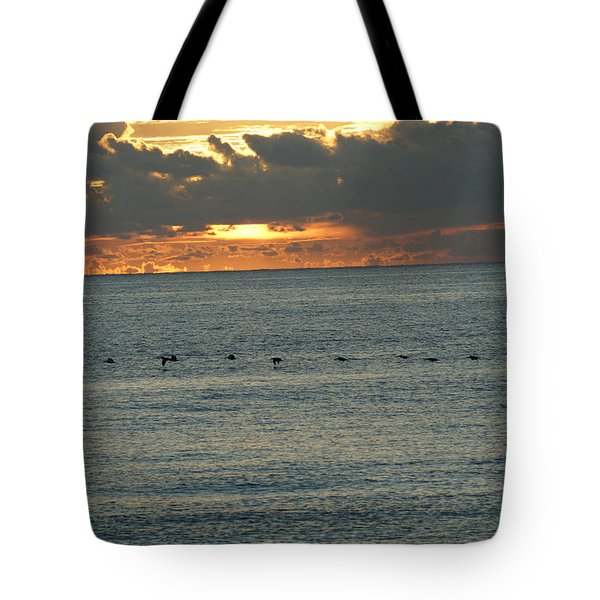 Tote Bag featuring the photograph Sunrise In Florida Riviera by Rafael Salazar