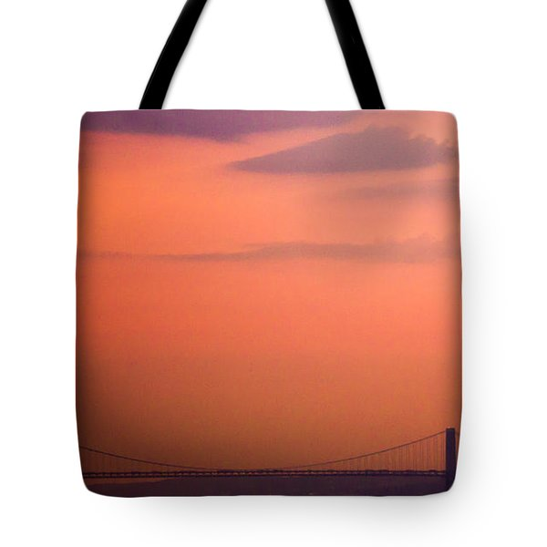 Tote Bag featuring the photograph Sunrise In New York by Sara Frank