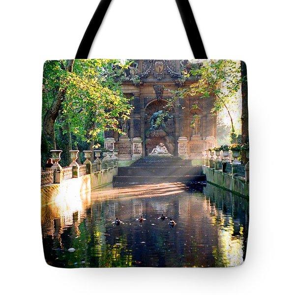 Sunrise In Paris Tote Bag by Kathy Bassett