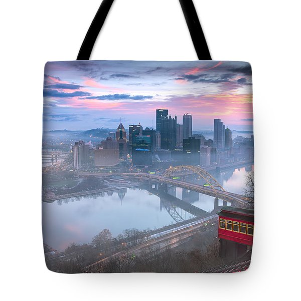Pittsburgh Fall Day Tote Bag by Emmanuel Panagiotakis