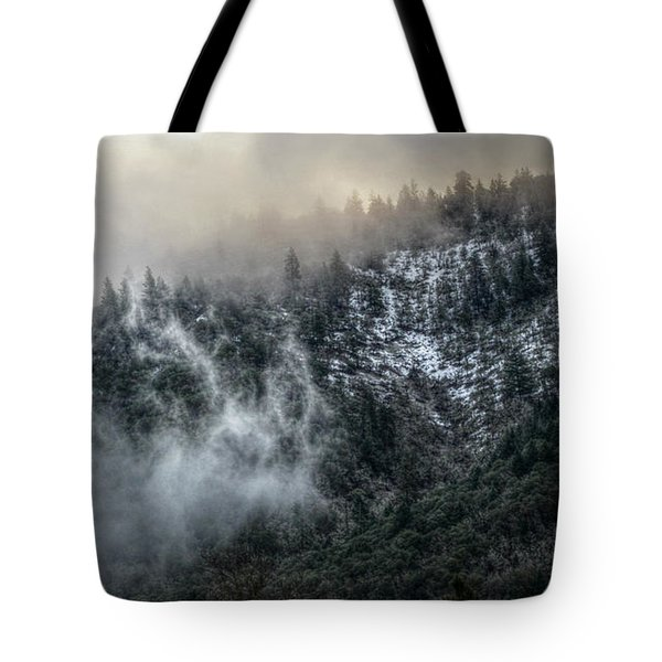 Tote Bag featuring the photograph Sunrise In The Clouds by Melanie Lankford Photography