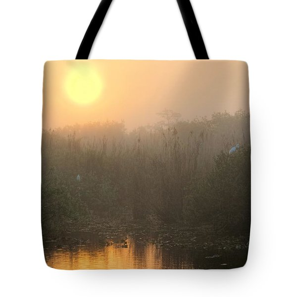 Sunrise In The Everglades Tote Bag by Rudy Umans