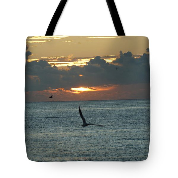 Tote Bag featuring the photograph Sunrise In The Florida Riviera by Rafael Salazar
