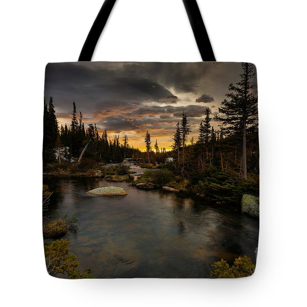 Sunrise In The Indian Peaks Tote Bag