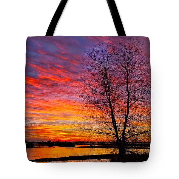Sunrise In The Sacramento Valley Tote Bag