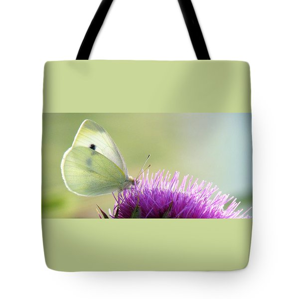 Sunrise In The Thistle Fields Tote Bag