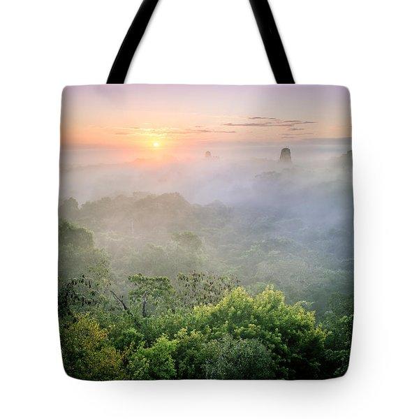 Sunrise In Tikal Tote Bag