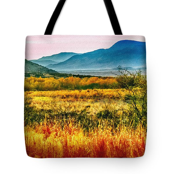 Sunrise In Verde Valley Arizona Tote Bag by Bob and Nadine Johnston