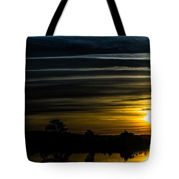 Tote Bag featuring the photograph Sunrise In Virginia by Angela DeFrias